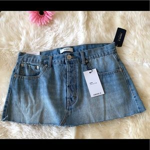 Brand new with tag Denim Mini Skirt size 27
